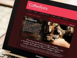Дизайн сайта для магазина кофе. Веб-дизайн