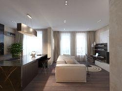 Квартира выполнена в современном стиле