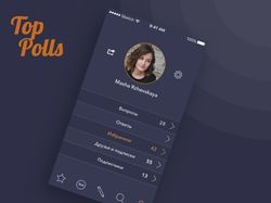TopPolls. Mobile UI/UX design.