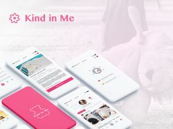 Kind In Me. Mobile UX/UI design.