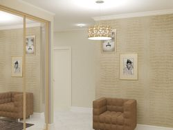 Различные варианты небольшой гостинной и коридора