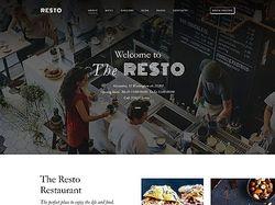 "Сайт-визитка для кафе-ресторана ""RESTO"""