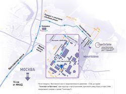 Карта проезда в Фотошопе для сайта