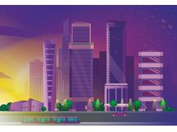 иллюстрация город