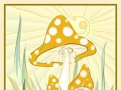 Желтый гриб