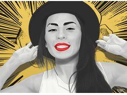 Цифровой цветной портрет Тати