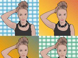 Цифровые цветные портреты в стиле Pop Art