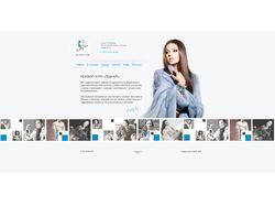 Дизайн сайта одежды из меха