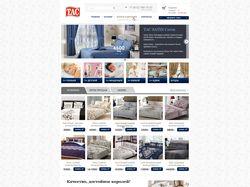 Дизайн многостраничного сайта постельного белья