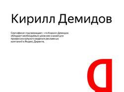Новый сертификат Яндекс.Директ до начала 2019г.