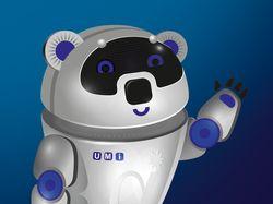 рекламный персонаж мишка UMI