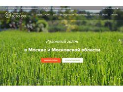 """Адаптивный сайт под ключ для """"Планеты газонов"""""""