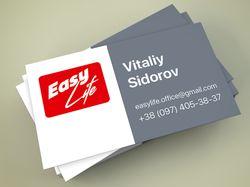 Дизайн и верстка визитки
