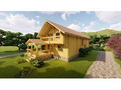 Деревянный дом из клееного бруса 300м2