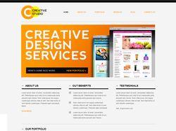 Сайт компании по разработке дизайна