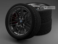 Визуализация модели Колеса BMW E39