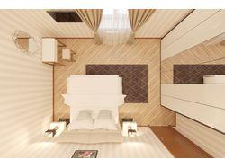 Дизайн спальни 22.2 кв.м