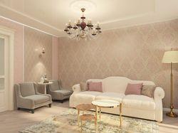 Проект квартиры 90 кв.м. Гостиная