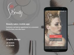 Beauty salon mobile app
