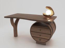 Стол  и светильник. Дизайн и документация.