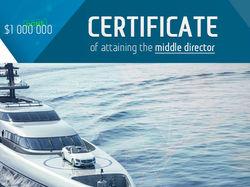 Сертификаты (10 разных уровней)