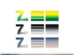 """Разработка логотипа и цветовых решений для """"7web"""""""