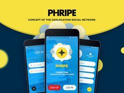 Phripe - концепт-дизайн приложения.