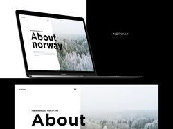 Norway website design.