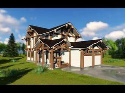 Проект бревенчатого дома