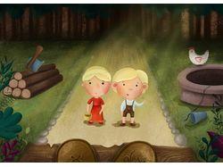 Иллюстрации к сказке о Ганзеле и Гретель