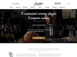 Пример лендинг-страницы  Ресторана