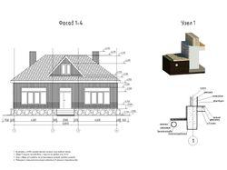 Одноэтажный жилой дом размерами в плане 12х11.5