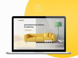 Дизайн для мебельного интернет-магазина (главная)