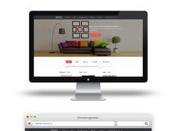 Дизайн лендинга для Интернет магазина диванов