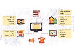 Инфографика для портфолио бюро IT решений