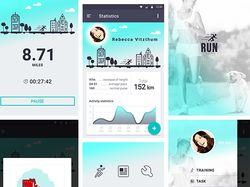 """Дизайн мобильного приложения """"Run"""""""