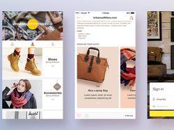 """Space"" ui kit для мобильных приложений"