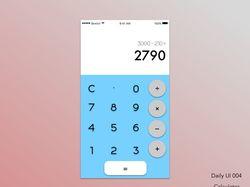 Дизайн калькулятора мобильного приложения