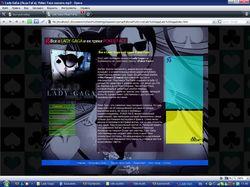 Сайт певицы Lady GaGa