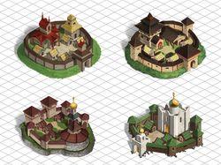 Изометрические домики и города
