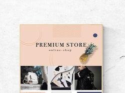 Рекламный баннер для онлайн-магазина Premium Store