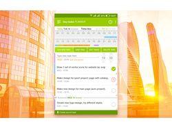 Day planner app design