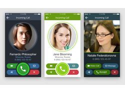 Incoming call design and messenger example
