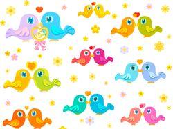 Little birds love - pattern