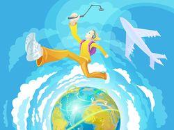 Traveler guy vector