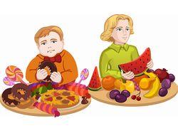 Два типа питания, стиль и тип питания школьников