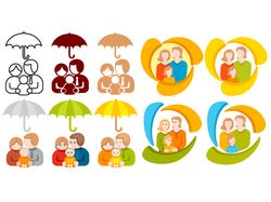 страховка семьи, лого family theme