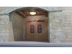 дверь входная двухстворчатая из массива