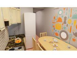 Кухня в ярком солнечном стиле на 7 кв.м