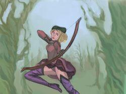Лес и лучница